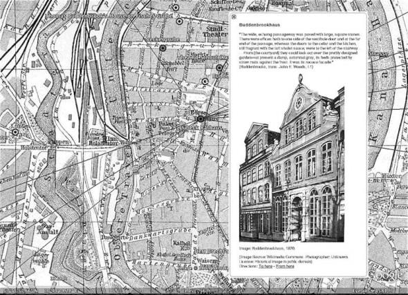"""Screenshot of Google Lit Trip for Thomas Mann's """"Buddenbrooks"""""""